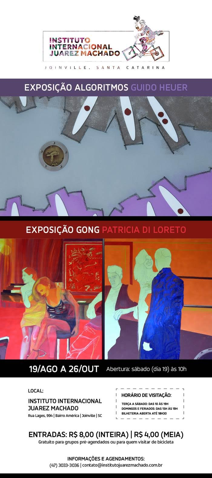 Exposições Gong Patricia Di Loreto e Algoritmos Guido Heuer