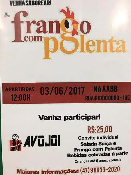 Evento: Frango com Polenta AVOJOI
