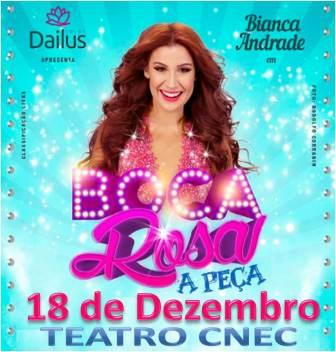 Espetaculo Teatral Boca Rosa com Bianca Andrade