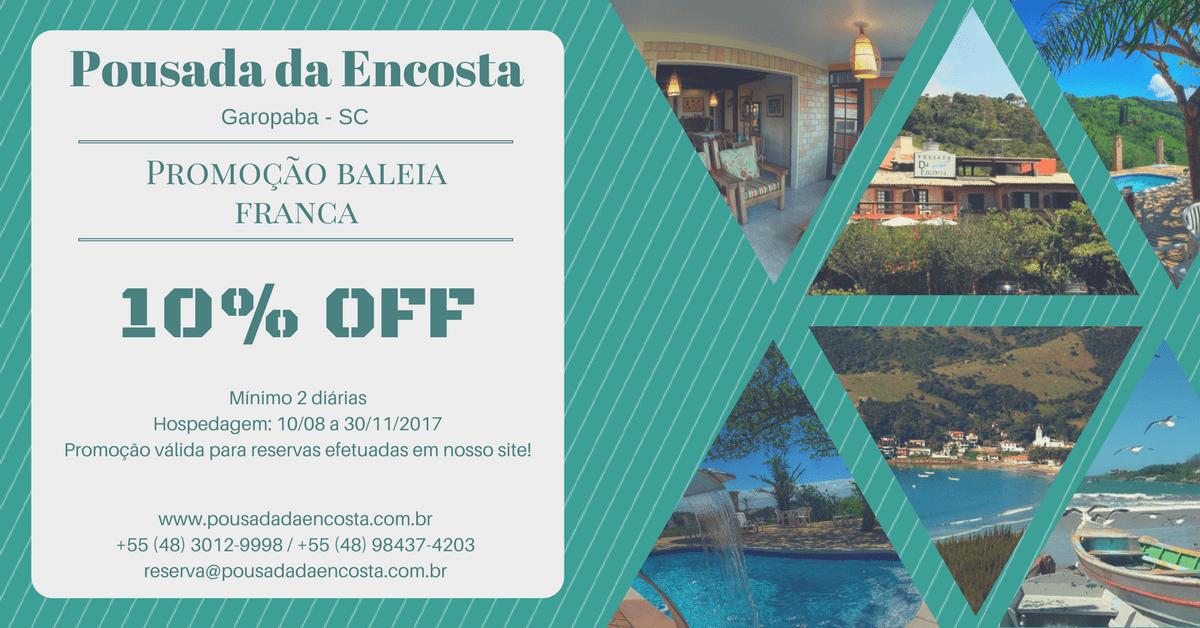 Promoção Baleia Franca - 10% OFF