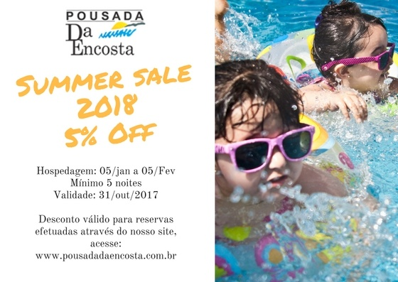 Promoção Summer Sale 2018 - 5% OFF